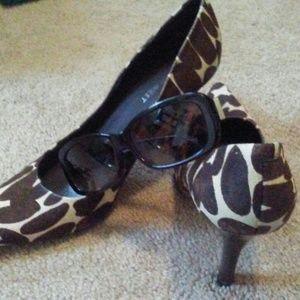 Nine West Calf-Hair Zebra Heel/Shoe
