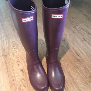 Hunter Shoes - Burgundy Hunter boots