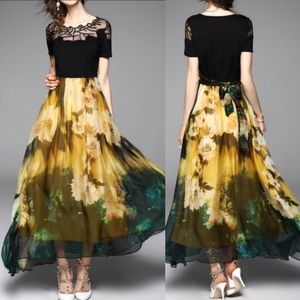 Dresses & Skirts - SALE !! Floral maxi swing dress