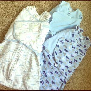 Halo Other - Sleep sack swaddle bundle Muslin and fleece