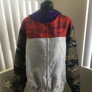 Black Scale Other - Mulit-Color Camo hooded jacket