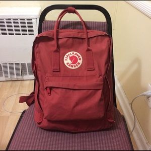 Fjallraven Handbags - Fjallraven kanken classic deep red backpack