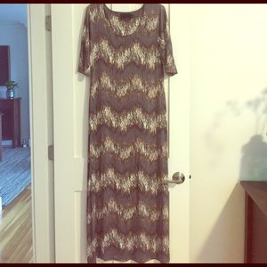 Cynthia Rowley Maxi Dress Brown and White Print