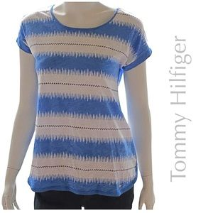 NEW TOMMY HILFIGER blue all cotton t shirt M or L