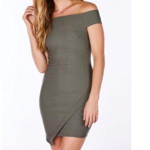 Necessary Clothing Dresses & Skirts - Mini envelope style olive dress.  Size : small