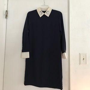 Victoria Beckham Dresses & Skirts - Victoria Beckham Swan Collared Crepe Dress