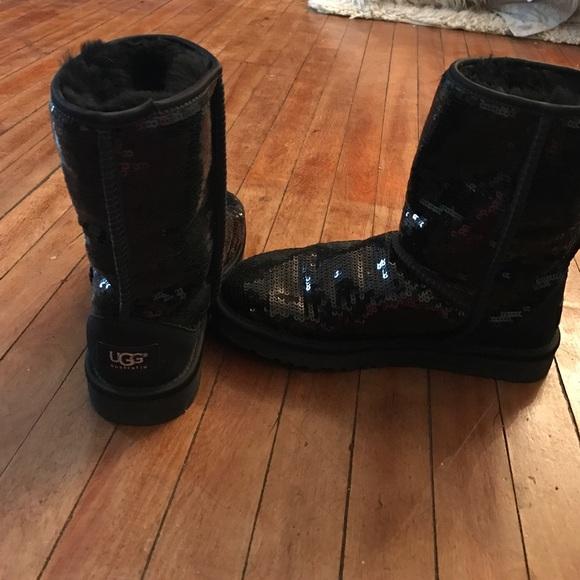 bcb62377935 Classic Short Sparkle Genuine Shearling Boot