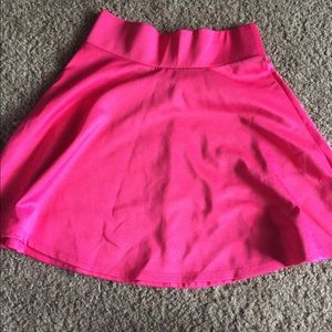 baby pink high waisted leather skirt s from s