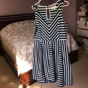 Anthropologie Saturday Sunday striped dress sz L