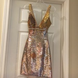 Night Moves Dresses & Skirts - Gold sequin dress