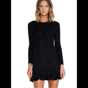 UNIF Dresses & Skirts - New UNIF Black Alleger Knit Sweater Dress Size XS