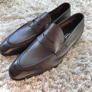 Santoni Other - New Santoni Tristan Loafers - Dark Brown - Size 10