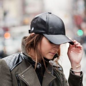 Accessories - Leather Material Baseball Cap