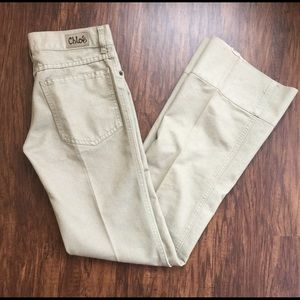 Chloe Denim - Chloe beige boot cut jeans sz 2
