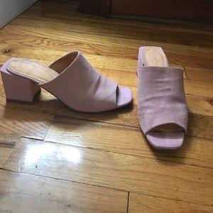 Mansur Gavriel Shoes - PINK SUEDE MULE MID HEEL MANSUR PHILLIP LIM /38