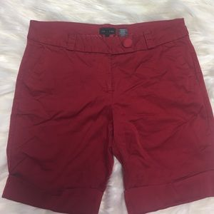 The Limited Pants - The Limited Drew Fit Size 12 red midi shorts