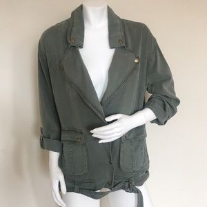 •Young fabulous and broke spring Olive jacket S •