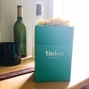 Tieks Shoes - Genuine tieks blue box with yellow glitter flower