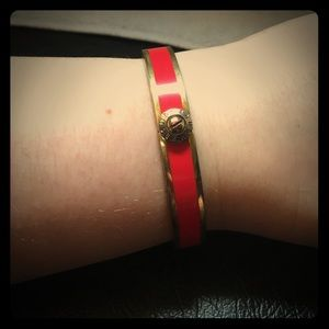henri bendel Jewelry - Henri Bendel red & gold bangle bracelet