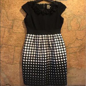 Taylor Dresses & Skirts - TAYLOR Black & White Midi Dress