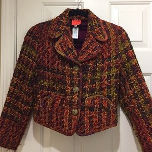 Christian Lacroix Jackets & Blazers - Christian Lacroix Multicolor tweed cropped jacket