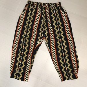 Rainbow Pants - Tribal Ankle Pants
