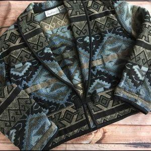 Flashback Jackets & Blazers - Vintage Cropped Southwestern Aztec Jacket