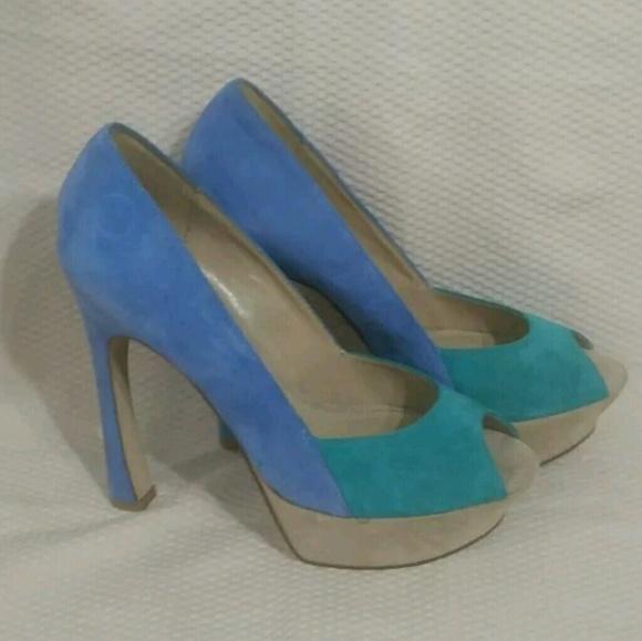 7f3034150503 Aldo Shoes - Aldo Womens Genuine Suede Platform Pumps Sz 9 M
