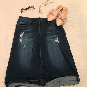 JustFab Dresses & Skirts - Just Fab Denim Pencil Skirt