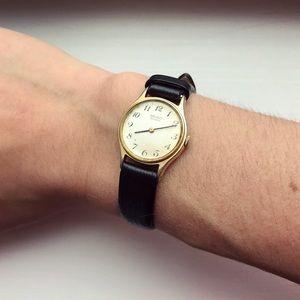 Speidel Accessories - Vintage Speidel thin black calf leather watch