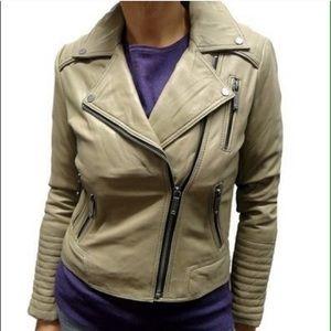 🆕 MICHAEL KORS Leather Moto Jacket