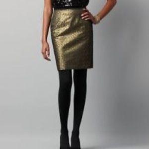 Ann Taylor Dresses & Skirts - Ann Taylor Gold Pebble Print Skirt