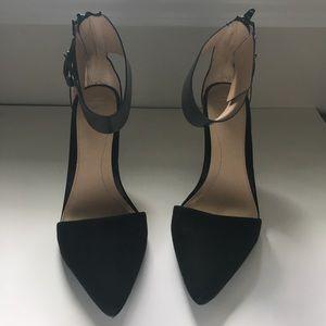 Zara Black Ankle Strap Heels