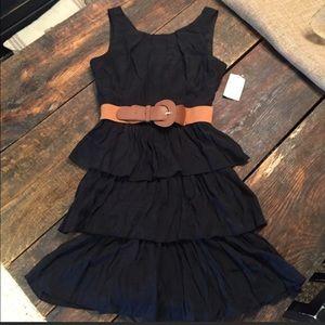 Teeze Me Dresses & Skirts - NWT Teeze Me Black Dress with Belt