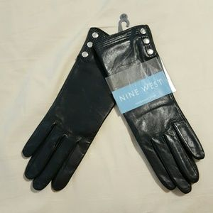Nine West Accessories - Black Leather driving gloves