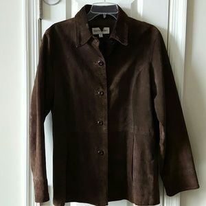 Bloomingdale's Jackets & Blazers - 🎉Bloomingdale's Beautiful Brown Suede Jacket!