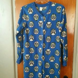 Dia de los Muertos Footed Fleece Pajamas