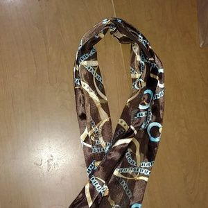 Accessories - Blue, brown and gold scarf