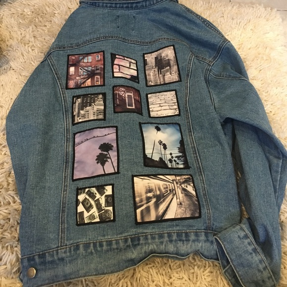 Forever 21 - Jean jacket with cute patches on the back from Nora's ...