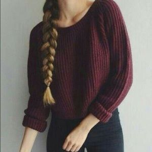 American Eagle Outfitters Tops - Maroon American eagle sweater