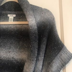 Cache Sweaters - Classic knit woven belted CACHE sweater