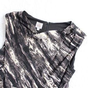 Suzi Chin Dresses & Skirts - Suzi Chin Printed Draped Spandex Jersey Dress