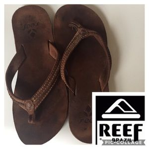 Reef Shoes - Reef | leather flip flops EUC