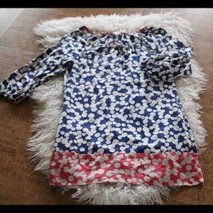 Boden Tops - Boden tunic top mini dress sz 8p petite polka dots