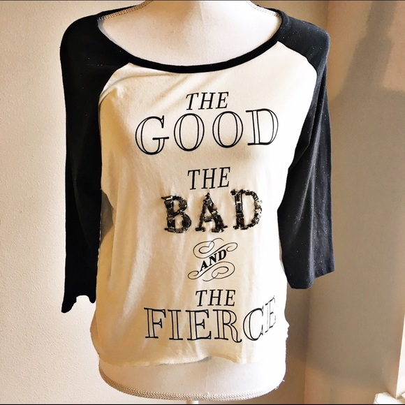 ef5e845a Guess Tops | Good Bad And Fierce Tshirt | Poshmark