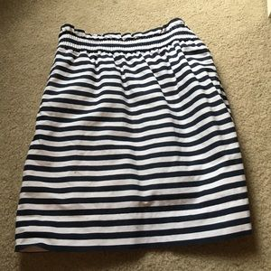 J. Crew Striped Sidewalk Skirt