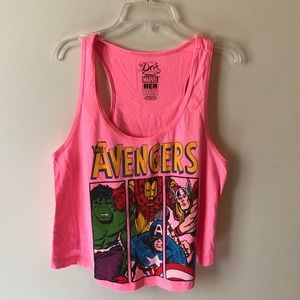 Tops - Avengers cropped tank top