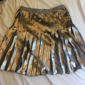 Banana Republic pleated sequin skirt