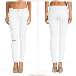 Paige Jeans Denim - Paige Verdugo Ultra Skinny White Destructed Jeans