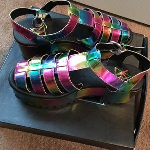 Colorful Platform Heels